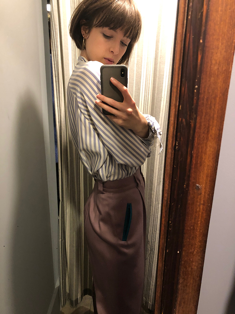 Lilac trousers I didn't buy.