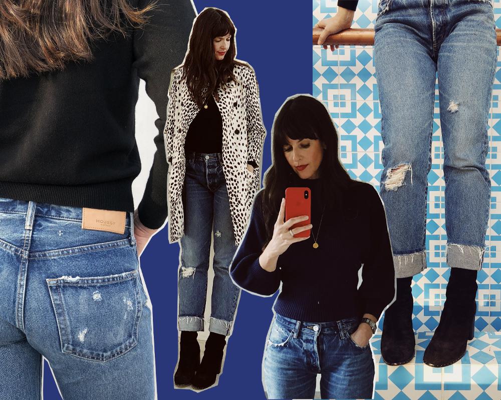 Sarah in the MV Celina Cropped Straight Jean.