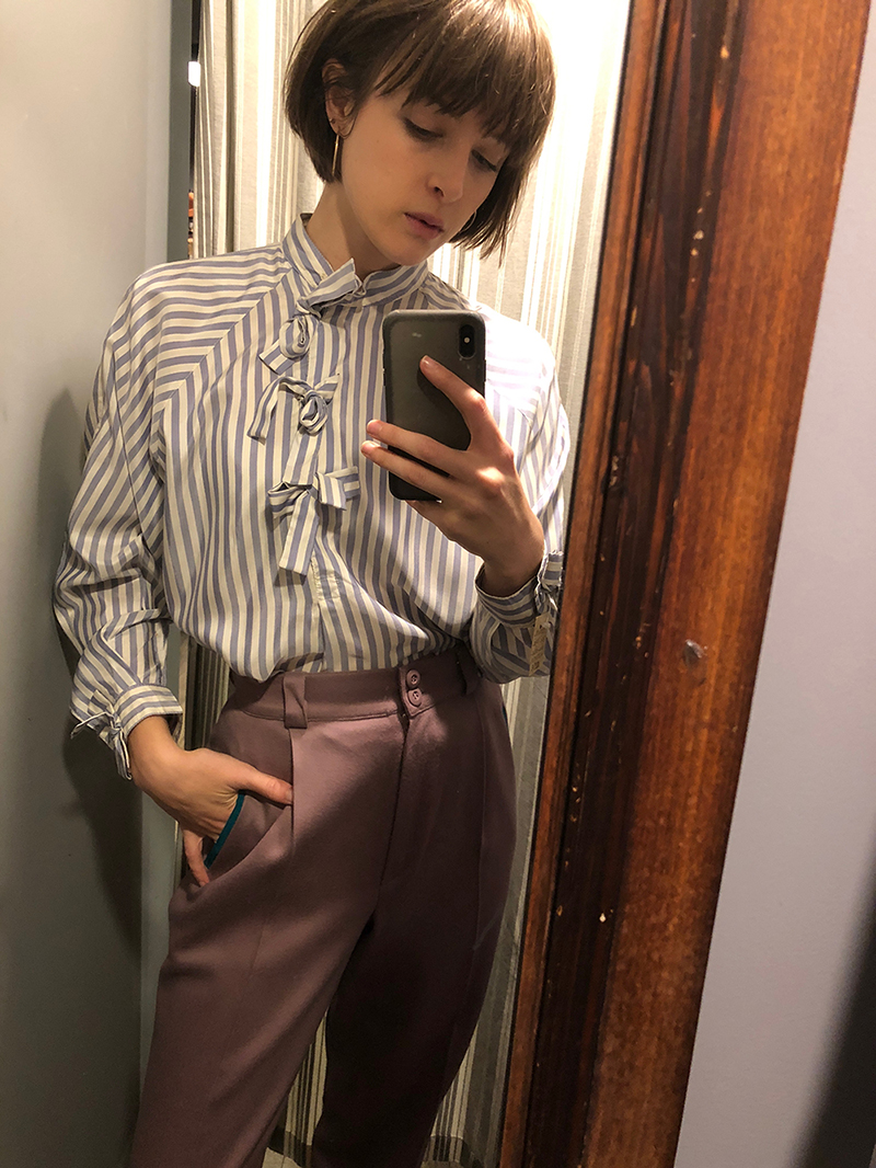 Lady blouse I did buy.