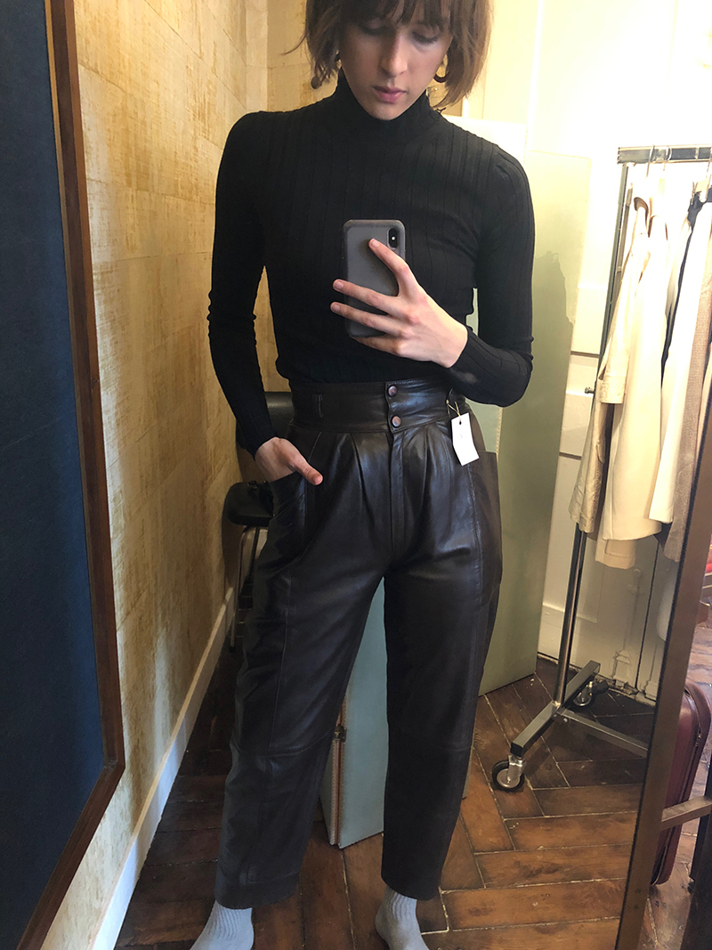 Leather Trousers.
