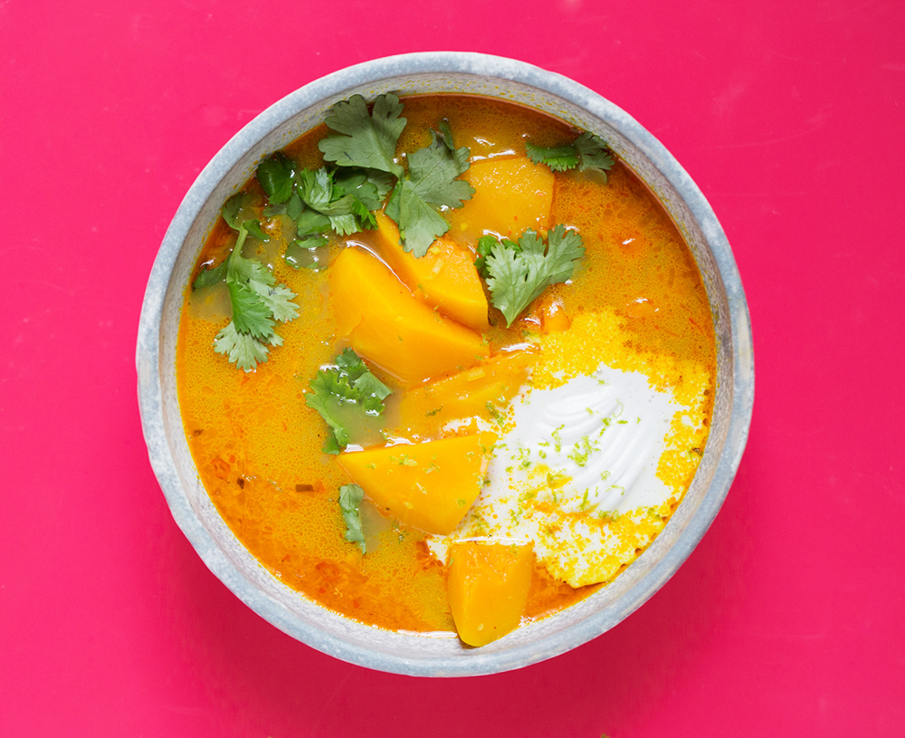 Thai Coconut Soup by Julia Sherman.