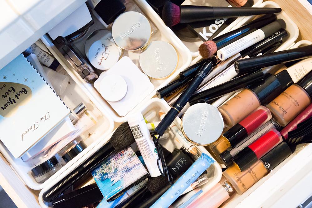 TyLynn's makeup arsenal.