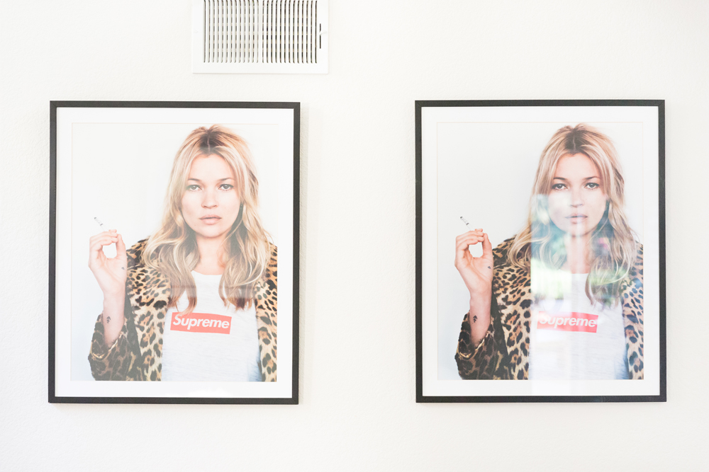 A duo of Kate Moss Supreme prints.