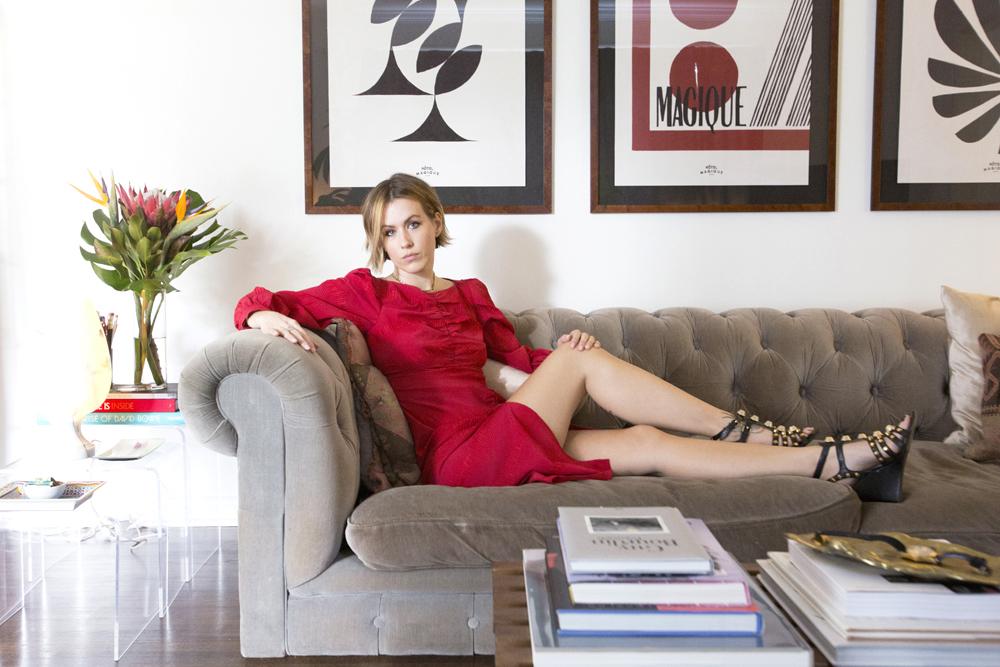 Dress by Rachel Comey. Shoes by Balenciaga.