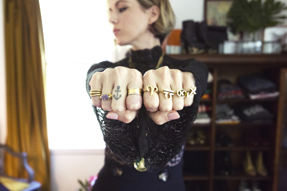 Jewelry by Arrow and Anchor.