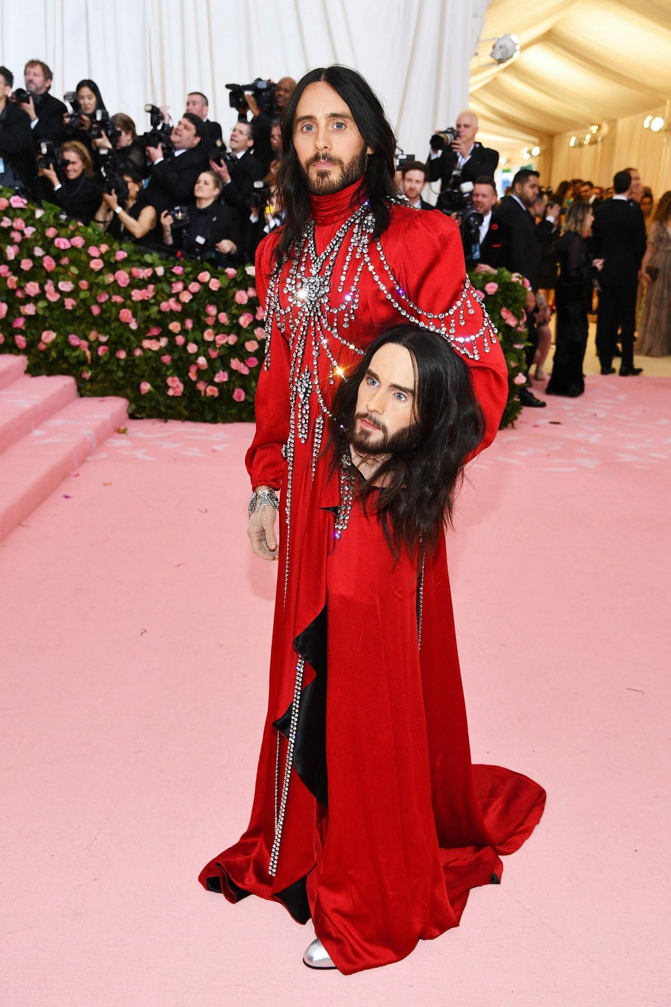 Jared Leto wearing Gucci / Getty.