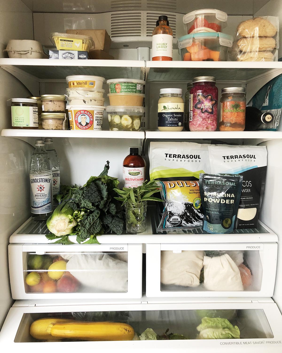 Meredith's fridge.