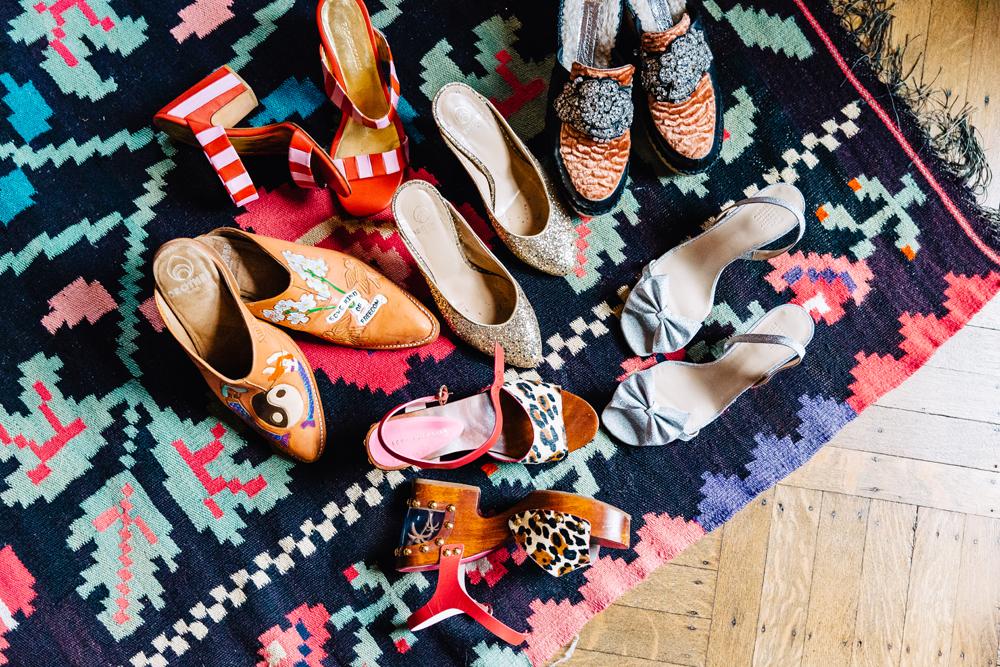 Shoes by Brother Vellies, Sophia Webster, Rachel Comey, and Maryam Nassir Zadeh.