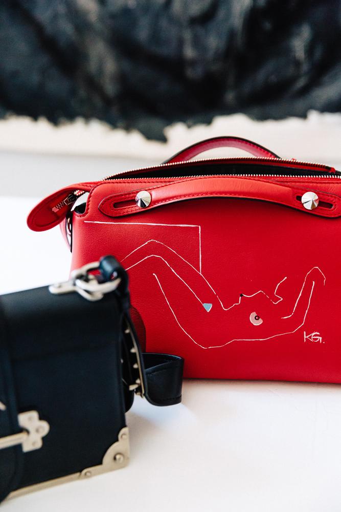 Handbag painted by Kristen.