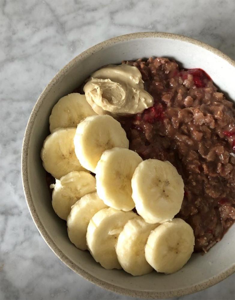 One of Meghann's many oatmeal breakfasts.